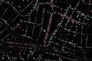 Captura de imagen del mapa interactivo del comercio minorista en Madrid