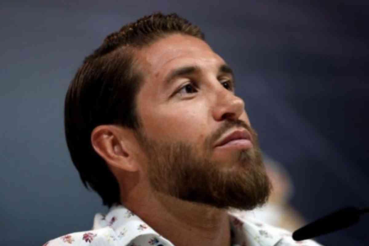 El jugador Sergio Ramos, durante una rueda de prensa.