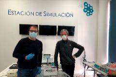 José Miguel Alonso y Damià Rizo con el prototipo Acute 19.