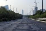 La carretera de Yamuna, entre Delhi y Agra, desierta.