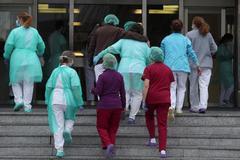 Personal sanitario del Hospital 12 de Octubre de Madrid.