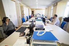 Los responsables de la asesoría Afianza, en sus oficinas de Madrid.