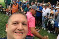 Brian Borruso, con Woods y La Cava de fondo.