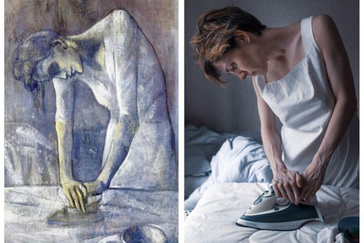 El cuadro de Picasso ';La planchadora'; recreado por Varya Schaetzel.