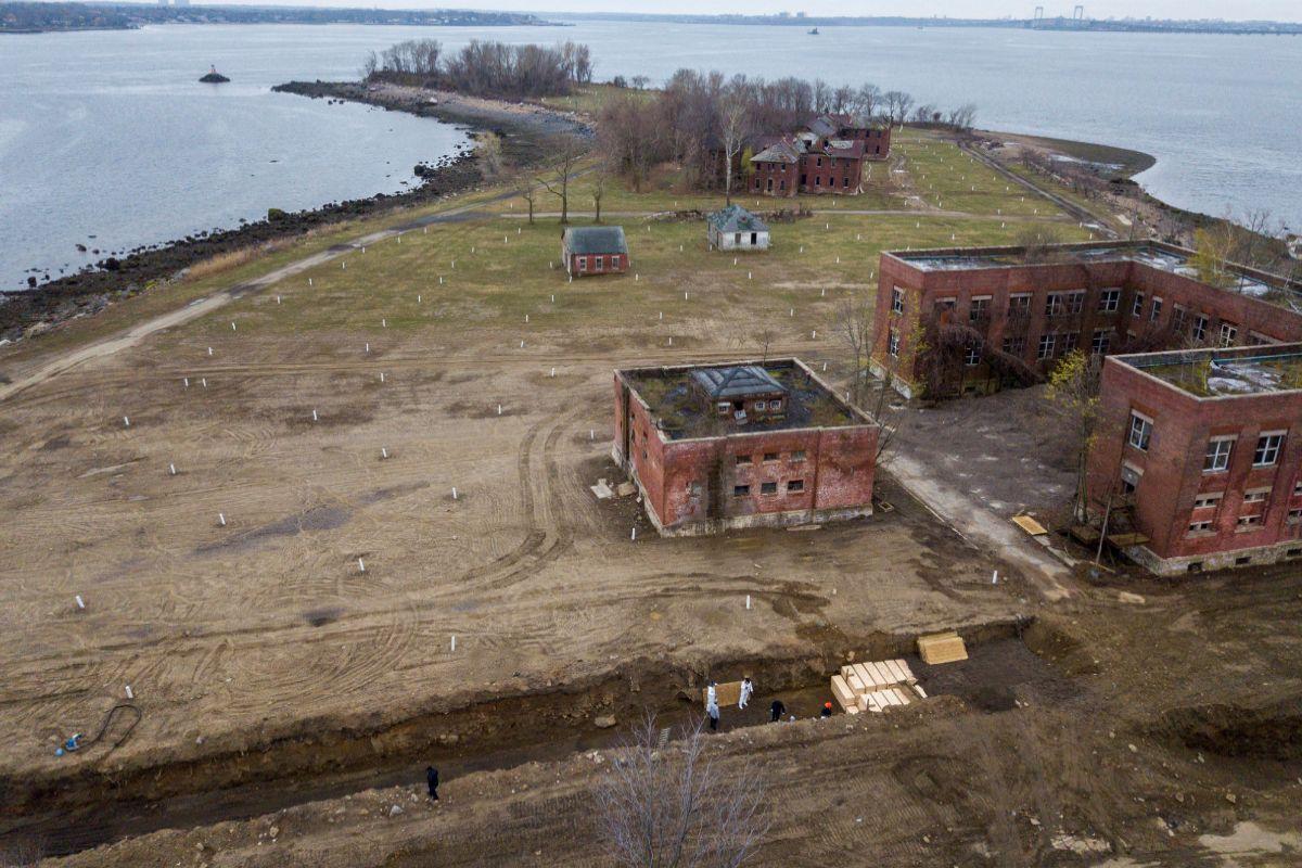 Vista aérea de la Isla Hart, en Nueva York.