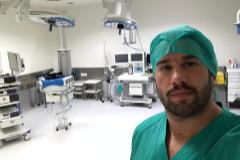 Sacha Casañas, en una foto que se hizo hace unos meses para mostrar a sus amigos que había empezado las prácticas