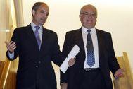 Francisco Camps, junto a Juan Cotino durante su etapa juntos en el Gobierno valenciano.