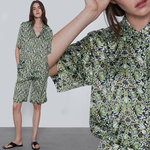 Blusa y bermundas de Zara
