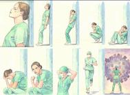 Una de las series dedicada a quienes luchan contra el coronavirus que Milo Manara ha colgado en su Instagram.