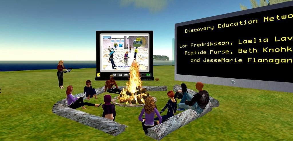 Encuentro de avatares en 'Second Life'.