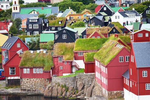Torshavn, en las islas Feroe.