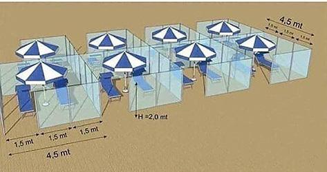 El proyecto de plexiglás de Nuova Neon Group para las playas.