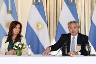 Alberto Fernández y Cristina Kirchner, presidente y vicepresidenta de Argentina.