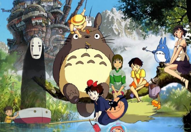 Algunos de los personajes más icónicos de los estudios Ghibli.