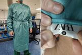 Las primeras batas sanitarias de Zara llegan a los hospitales