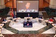 Imagen del encuentro distribuida por el Gobierno de Aragón.