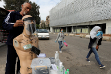 Un vendedor ambulante en Beirut.