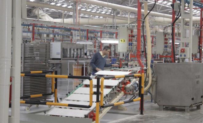 Una fábrica de azulejos en la provincia de Castellón.