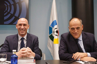 Luis Rubiales y Javier Tebas, en una reunión de la LaLiga.