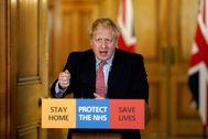 Boris Johnson, en el número 10 de Downing Street.