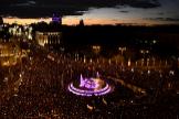 La plaza de Cibeles durante la manifestación del 8-M en Madrid.