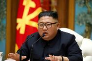 El líder norcoreano, en una de sus últimas apariciones, el 11 de abril.