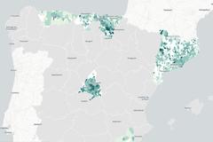 Mapa de la incidencia del coronavirus en España, municipio a municipio