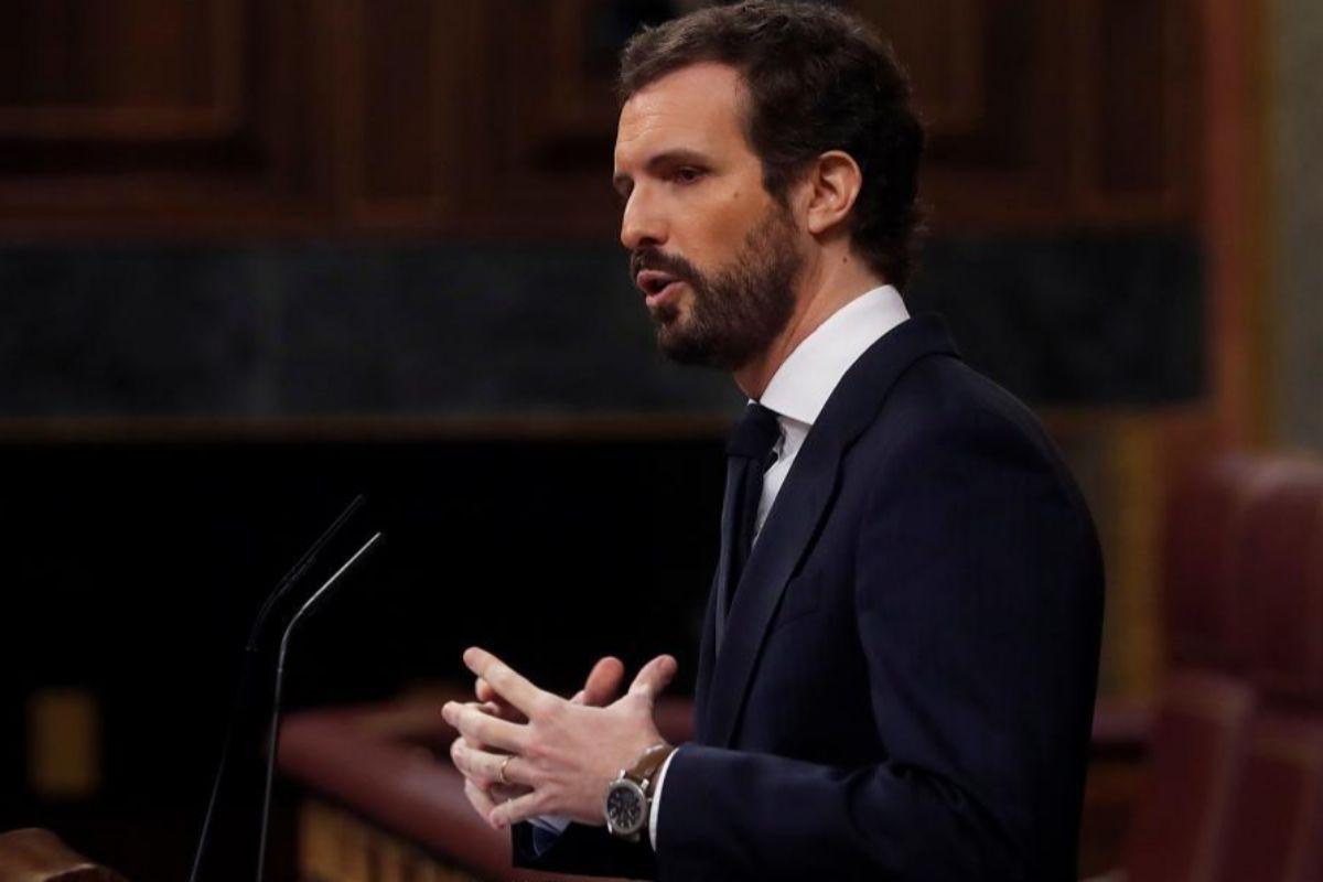 Pablo Casado, durante su intervención.