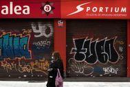 Locales cerrados en Zaragoza.