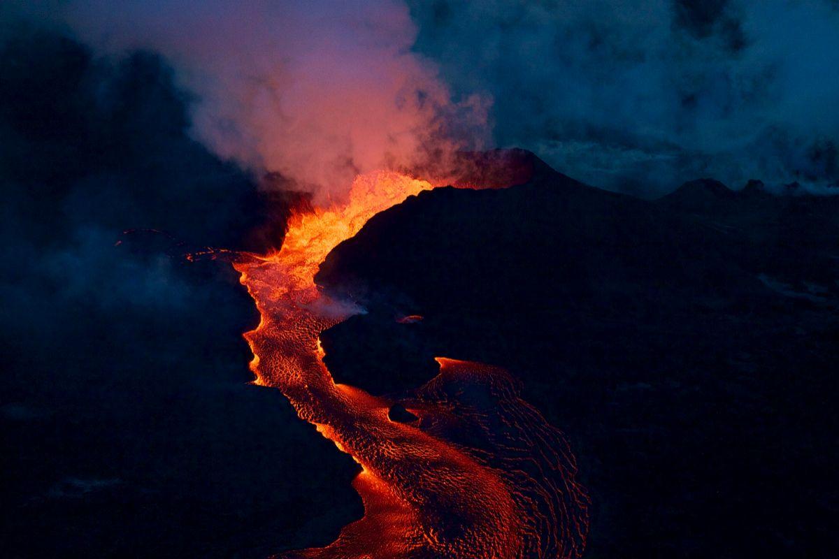 Ríos de magma en el Kilauea, en 2018.