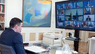 El presidente del Gobierno, Pedro Sánchez, en la cumbre telemática del Consejo Europeo de este miércoles