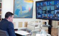 El presidente del Gobierno, Pedro Sánchez, en la cumbre telemática del Consejo Europeo de este jueves.