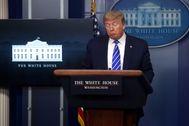 El presidente de EEUU, durante su comparecencia diaria sobre el coronavirus.