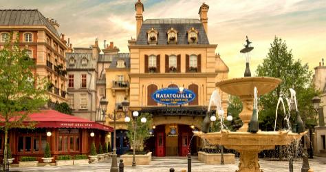 El bistró Chez Rémy de Ratatuille del parque.