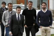 Antonio Amaya, a su llegada al Palacio de Justicia de Pamplona, en 2015.