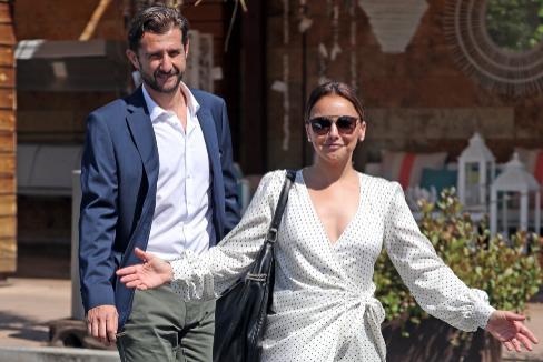 Chenoa y su futuro marido, Miguel Sánchez.