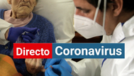 Un anciano se hace un test de de coronavirus en la Residencia Las Praderas de Madrid.