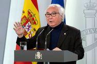 El ministro de Universidades, Manuel Castells, en La Moncloa.