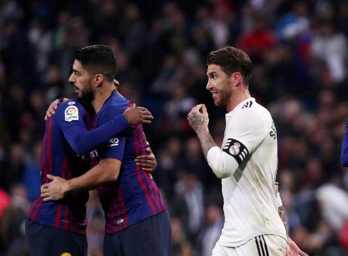 FILE PHOTO: La Liga Santander - lt;HIT gt;Real lt;/HIT gt; lt;HIT gt;Madrid lt;/HIT gt; v FC Barcelona