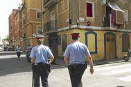 Mossos por la Barceloneta