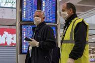 El aeropuerto de Palma, con los vuelos reducidos al mínimo desde la declaración del estado de alarma.