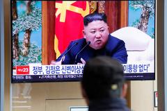 El líder norcoreano en televisión.