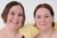 Las gemelas Davis, ambas enfermeras.