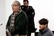 El ex gerente de Osasuna, Ángel Vizcay, el pasado enero ante el juez.
