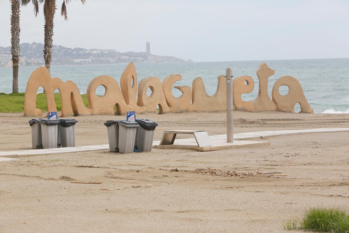 La playa de la Malagueta.
