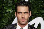El modelo Jon Kortajarena en unos premios de moda en Londres.
