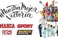 Promoción de la campaña #NuestraMejorVictoria.