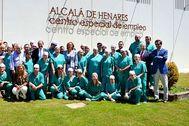 Imagen de archivo de la plantilla del Centro Especial de Empleo y de responsables de la Fundación I de Alcalá de Henares.