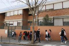 Alumnos de una escuela pública de L'Hospitalet.