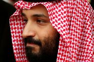 FILE PHOTO: Saudi Arabia's Crown Prince Mohammed lt;HIT gt;bin lt;/HIT gt; lt;HIT gt;Salman lt;/HIT gt; leaves the Hotel Matignon in Paris, France
